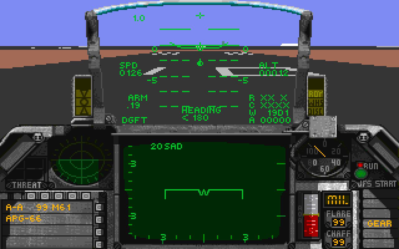 Falcon 3.0 cockpit