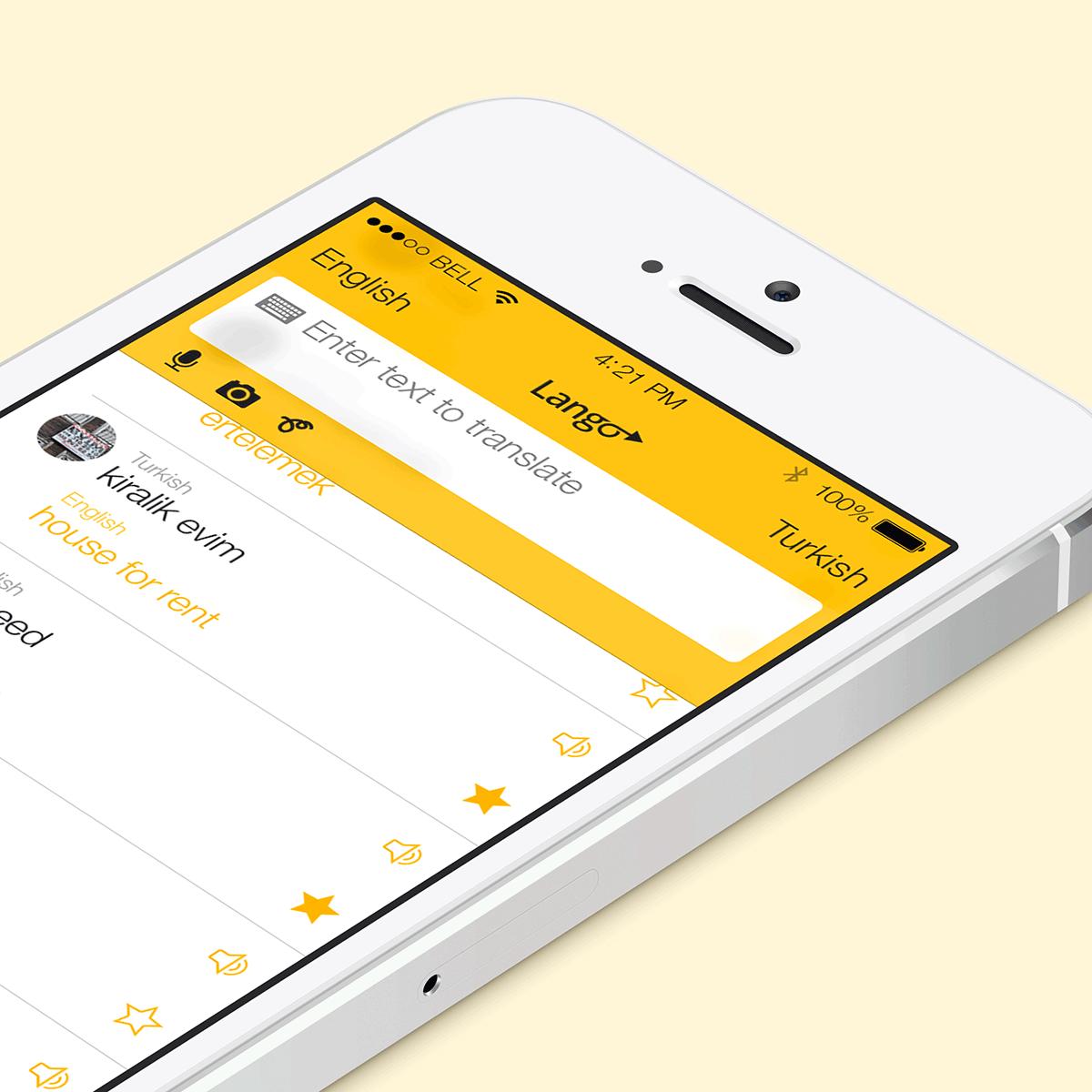 Lango universal translator app top detail