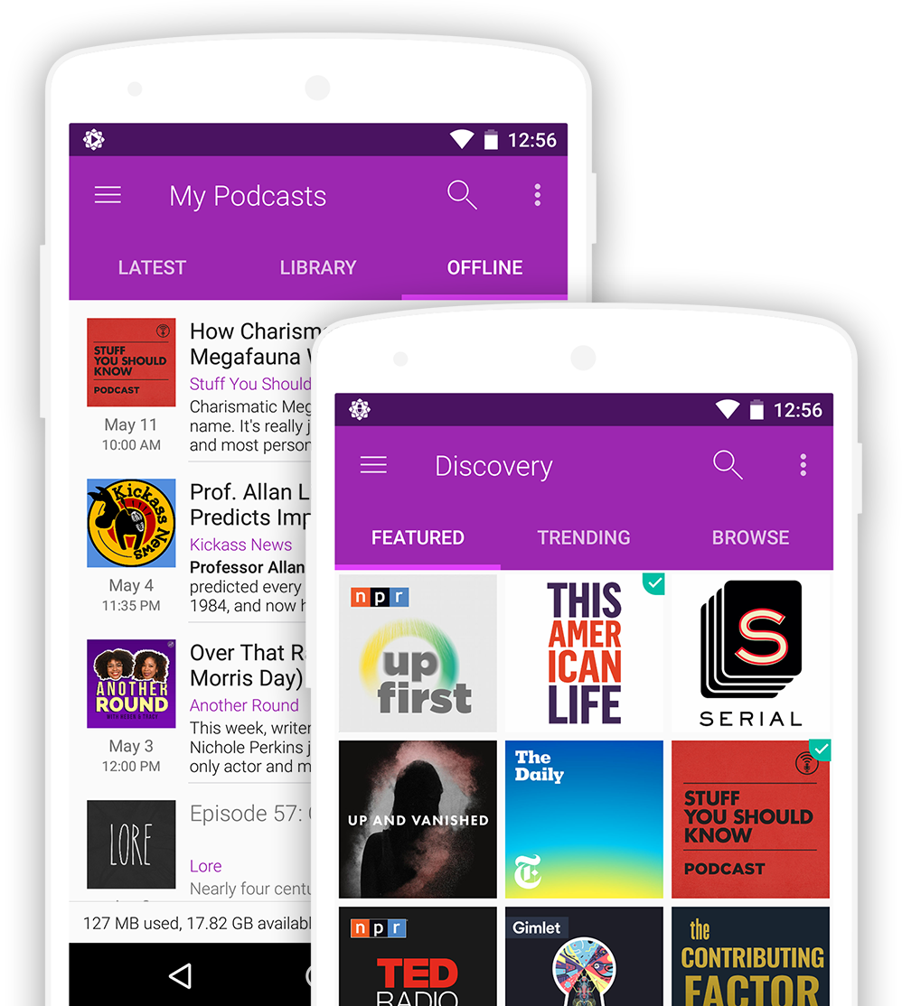 Android App Design - Podcastguru Screens