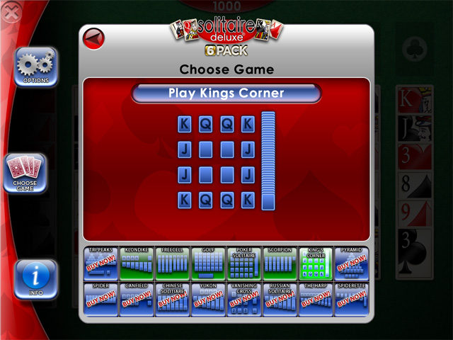 Solitaire Deluxe for iPad UI