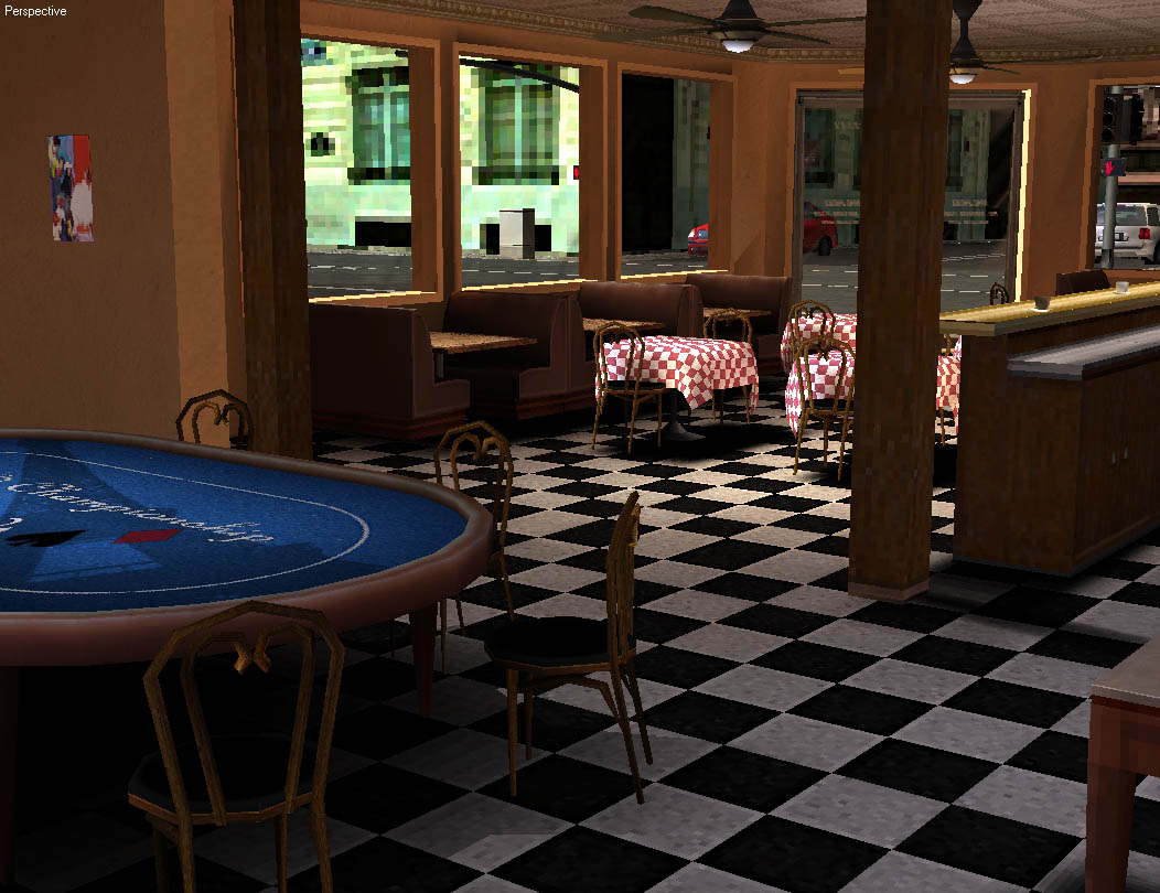 3D Game Environments World Championship Cards Cafe 1