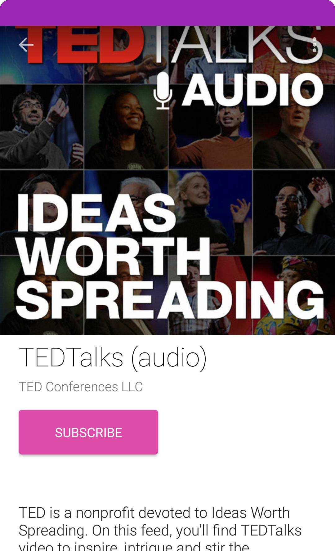 Android App Design - PodcastGuru Podcast Subscribe